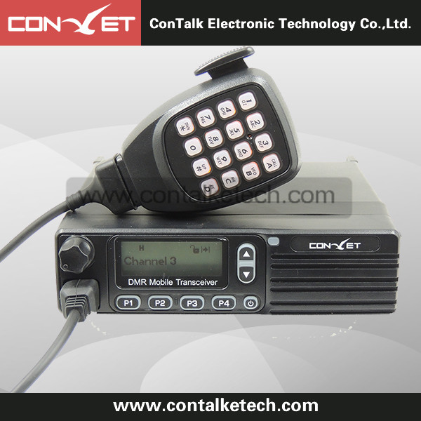 Contalketech DMM80 UHF 400-470MHz / VHF 137-174MHz Analog and Digital Dual Mode Mobile DMR Radio