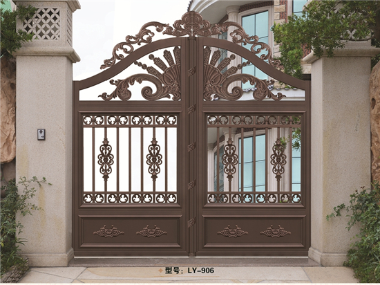 2017 aluminum door gate designs for garden LY-906