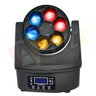 6pcs×15W RGBW 4IN1 Small Bee Eye Led Moving Head Unlimited Rotation