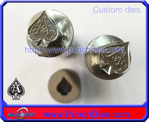 Custom-made 12*14mm Ace of spades stamp pill die set for ZP9 tablet press machine