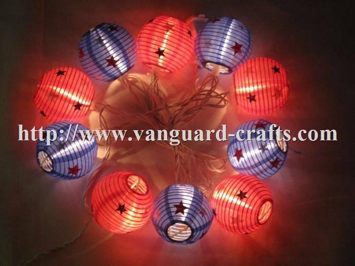 LED String Lights With Nylon Lanterns