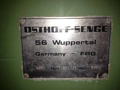 OSTHOFF SINGEING MACHINE 220 CM/1990 YOC