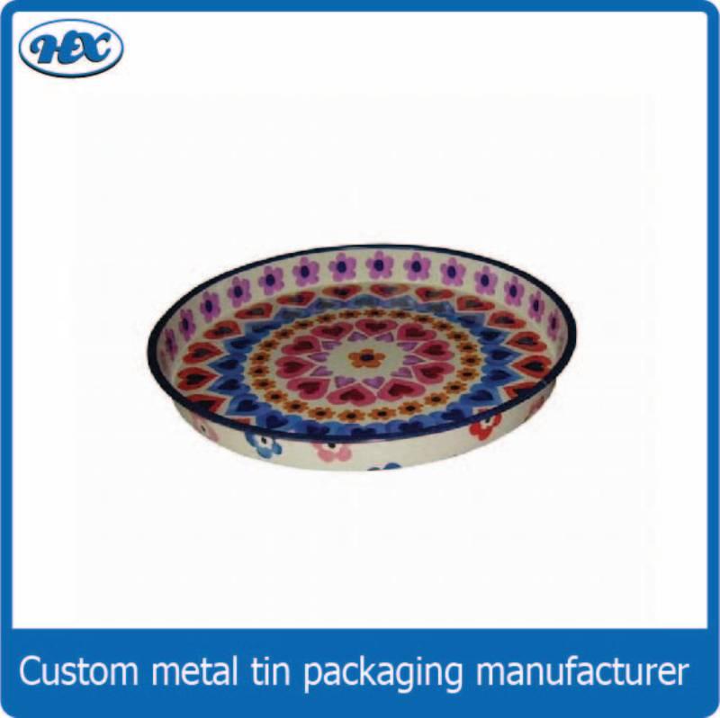 Colorful tin tray
