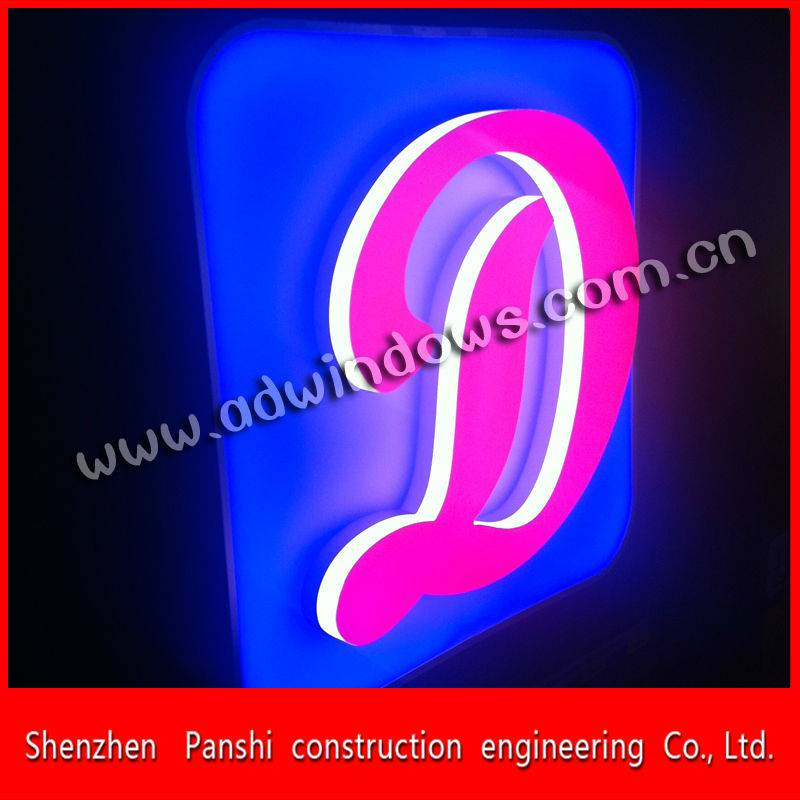 Outdoor waterproof frontlit acrylic led letter sign