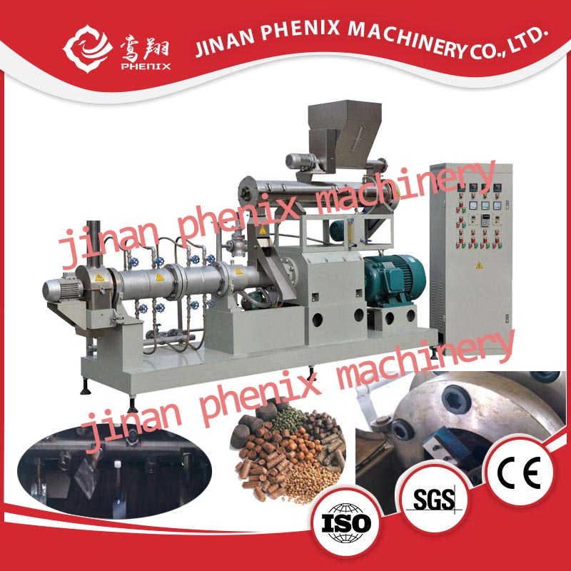 extrusion fish feed pellet processing machine line
