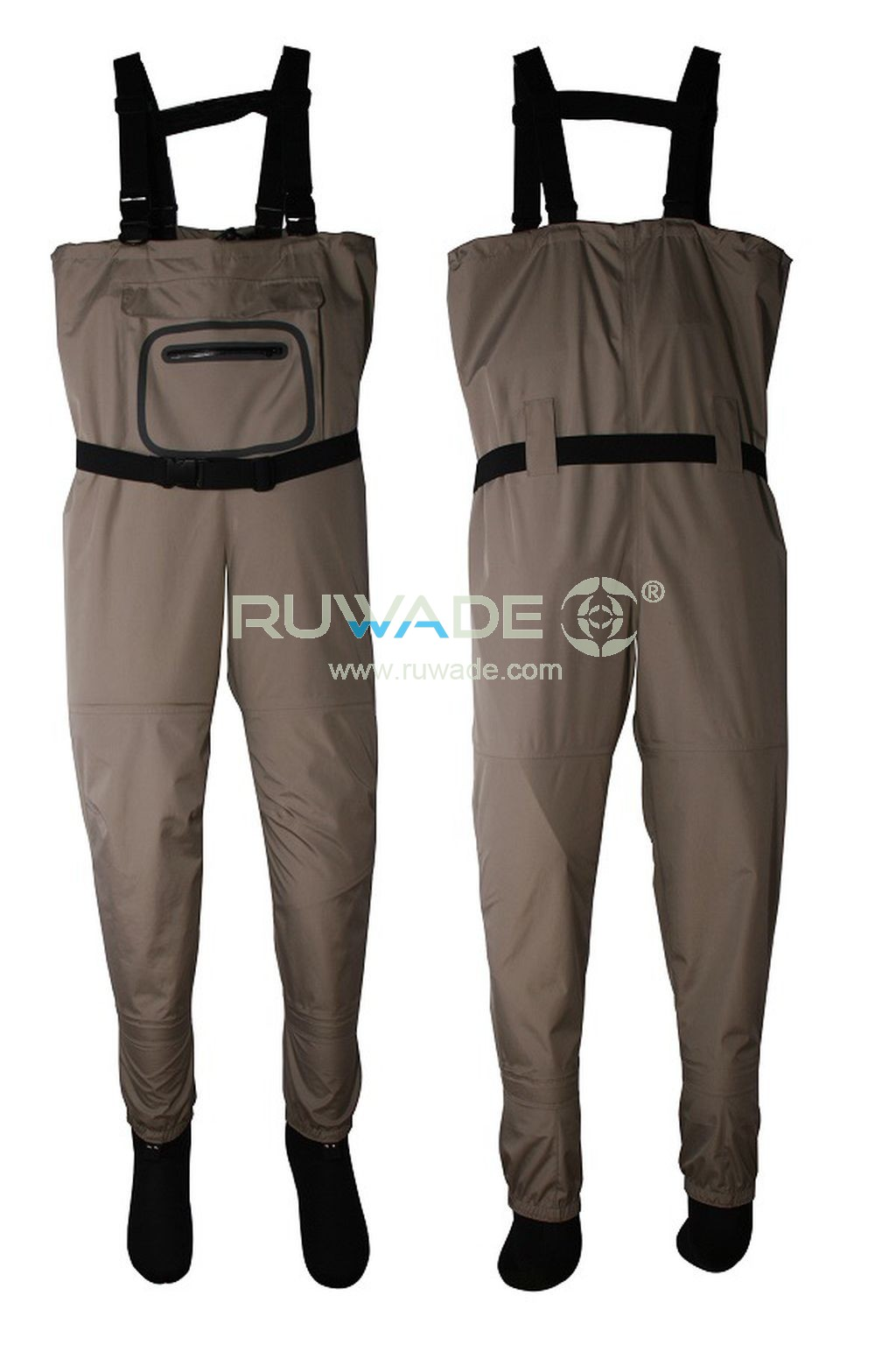 Waterproof breathable chest fishing wader