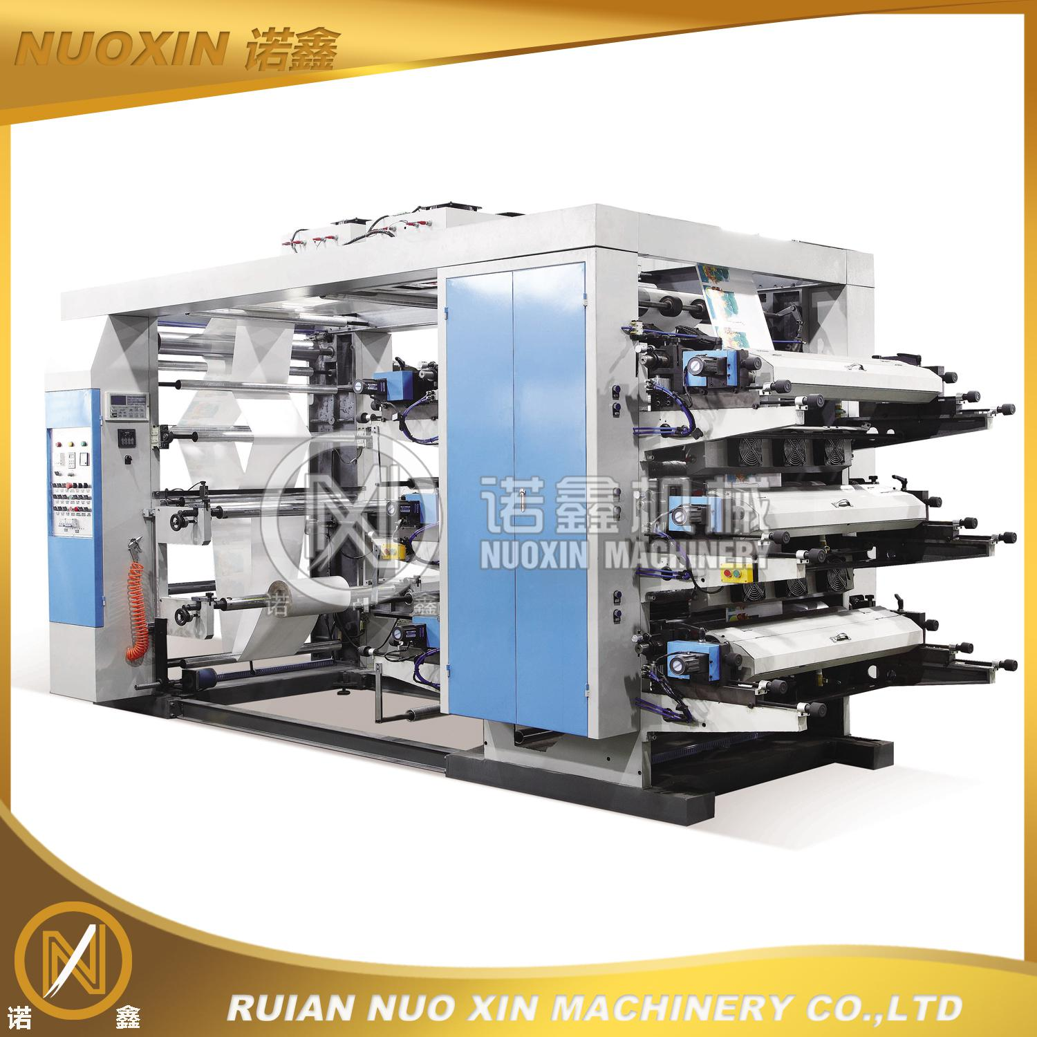 6 Color PE/OPP/BOPP Flexographic Printing Machine