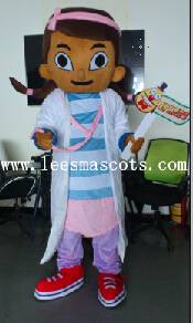 OHLEES Professional custom mascot costume female doctor mascot adult size, free shipping