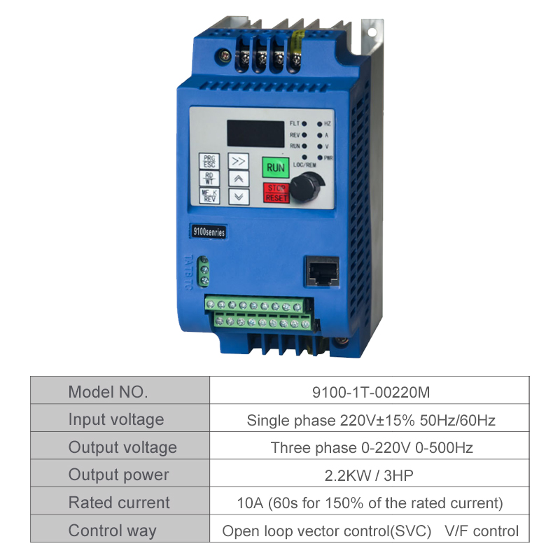 VFD 2.2KW new inverter CNC Spindle motor speed control 2.2KW220v 1P input 3P OUT fre