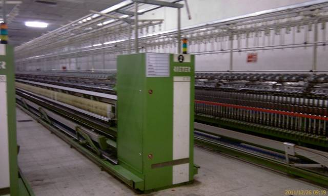 RIETER RING SPINNING PLANT 21.000 SPINDLES(complete ring with labaratory)