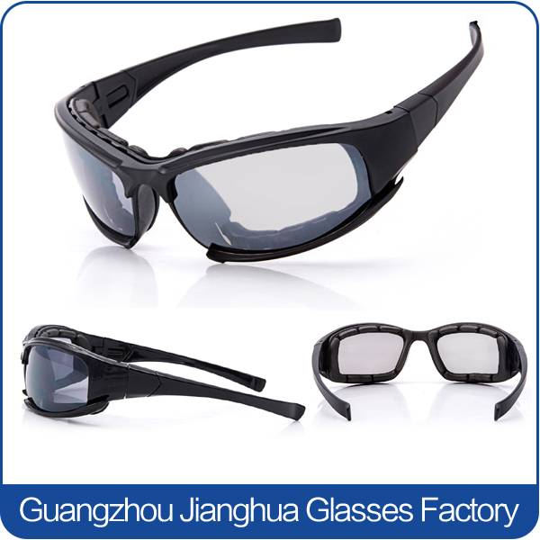 cool PC lens black frame military glasses protective goggles for men