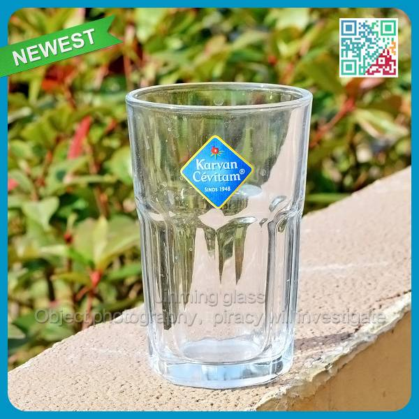 Transparent drinking glassware with handle Lipton brand glass drinking cup wholesale water glass cup