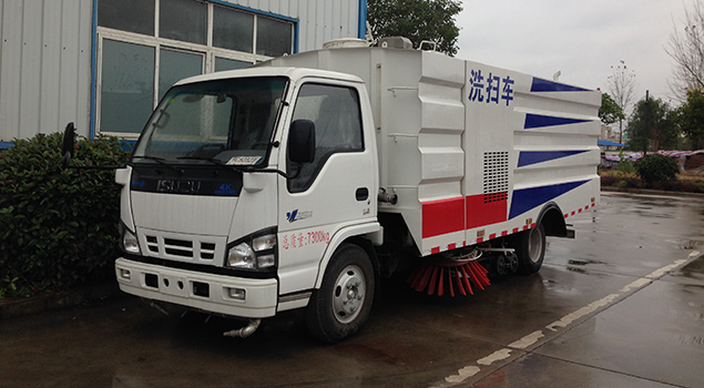 ISU-ZU 8CBM truck mounted vacuum road washing sweeper