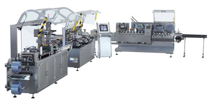 DHC-800 Vials Blister Packing and Cartoning Packaging Line