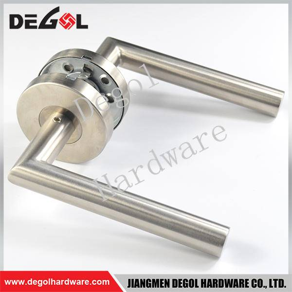 Custom stainless steel tube lever type screen door handle