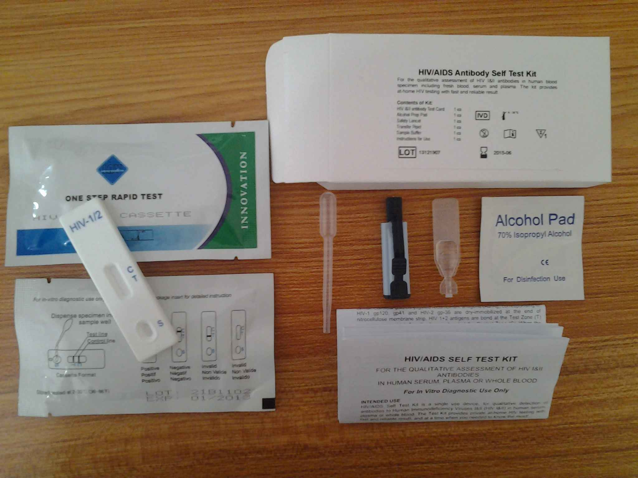 hot sale chinese medical test hiv 1/2 test strip cassette