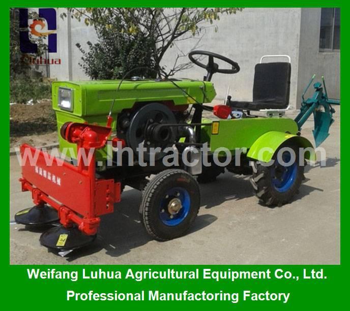 China small farm tractor of 12hp 4 wheel mini farm tractor