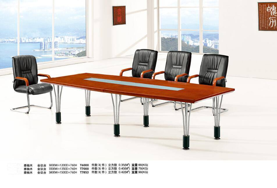 smooth melamine surface wood material rectangle office meeting table