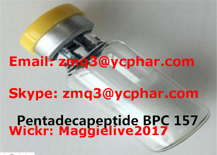 2mg/Vial Pentadecapeptide BPC 157 Powder CAS 137525-51-0 Increased Ligament Healing