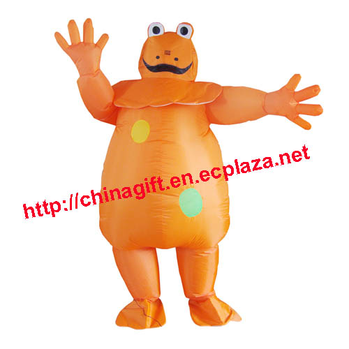 Inflatable Orange Frog Costume
