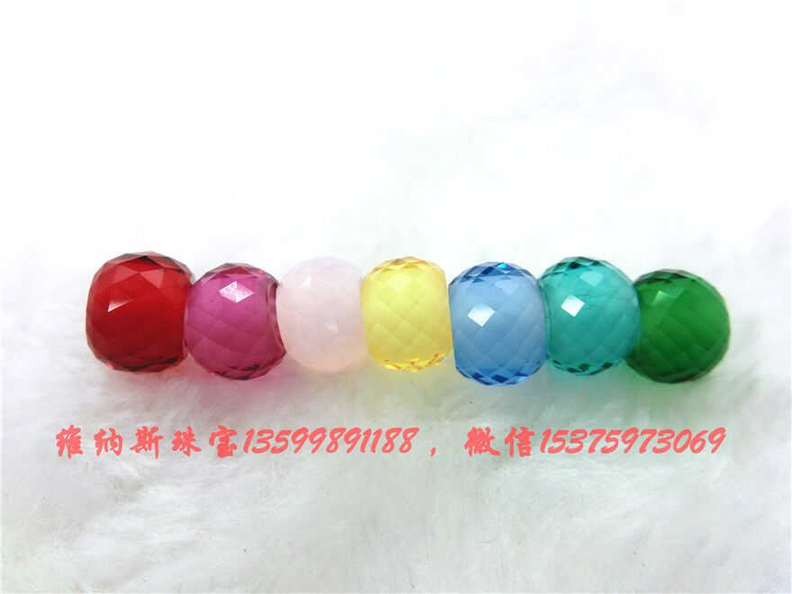 Murano Glass Beads with Faceted Surface with large hole size