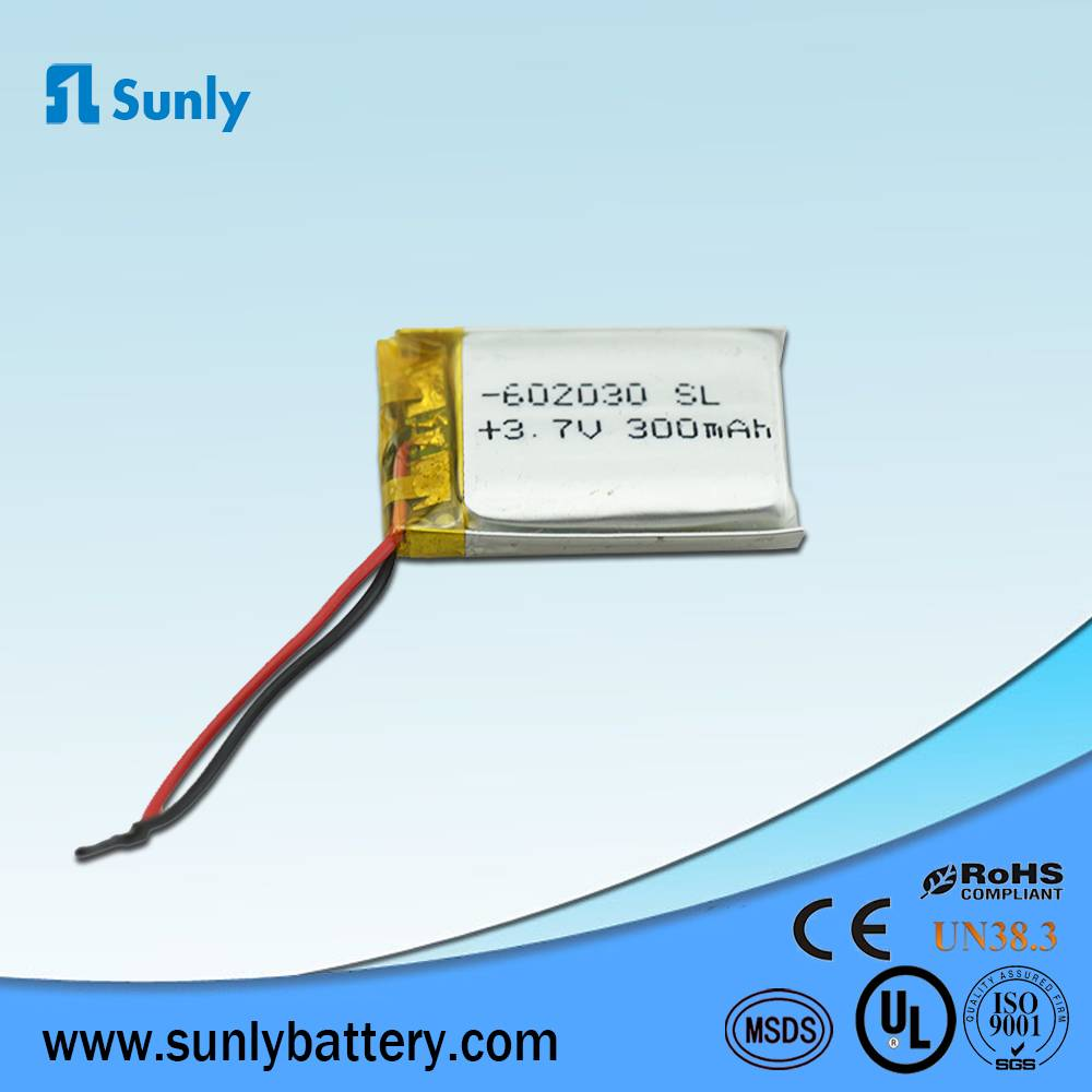 lithium battery 3.7V 300mAh li-ion battery pack
