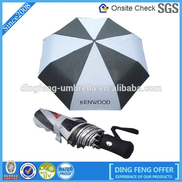 Good quality automatic 3 fold umbrella with logo for advertising