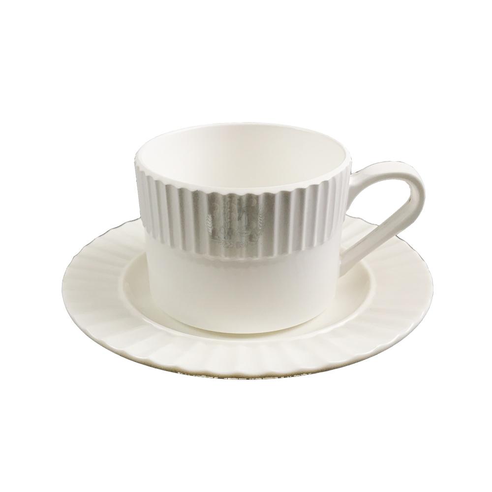 Waved side melamine mug set coffer mug display cup