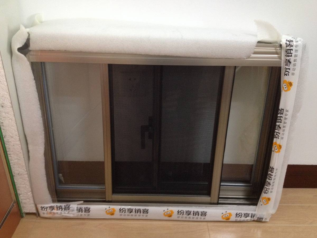Finished Aluminum Window Frame and Profile Home decoration Construction Project in Different surface