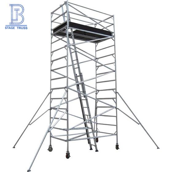Internal Ladder Aluminum Scaffolding/ Ascending Mobile Scaffolding Tower