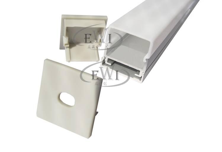 Square anodized led profile light for pendant lamp light
