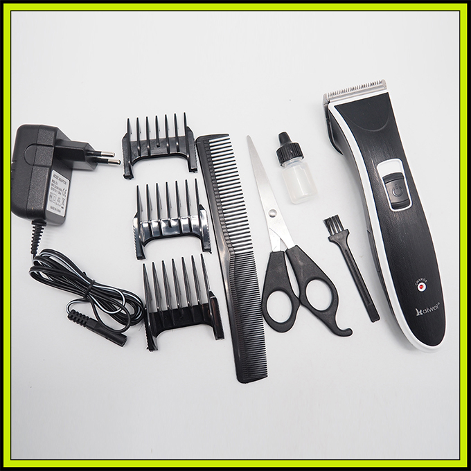 Z-303 Rechargeable Battery Hair Cutter Set with 3 Guide Combs Professional Hair Trimmer