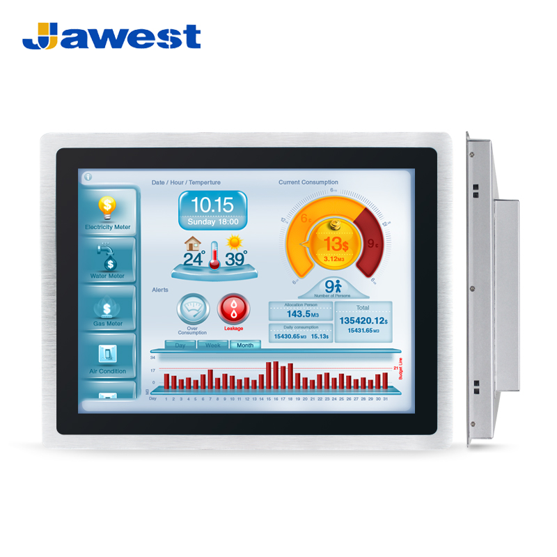 "Industrial HMI 17 "" Touch Screen Panel PC Computer"