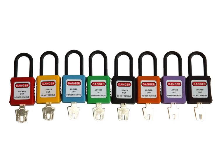 High Quality 4.5mm Diameter Nylon Shackle Safety Padlock
