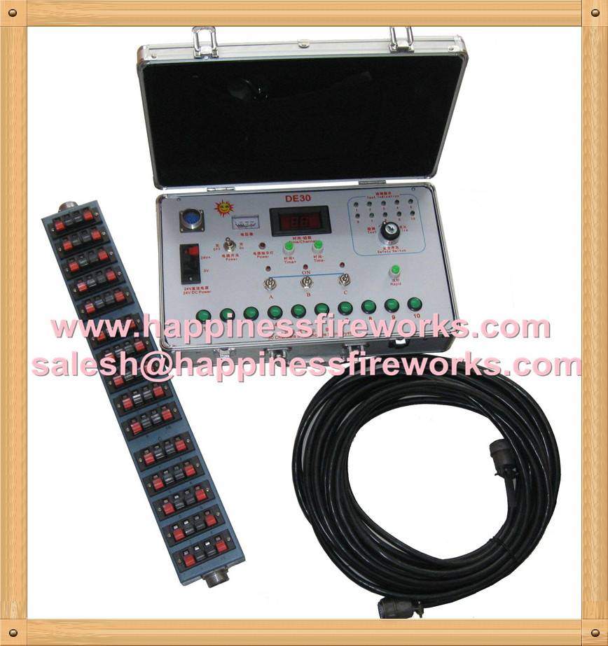30 channels Sequential & Salvo & Step fire Manual control Fireworks Firing System (DE30)