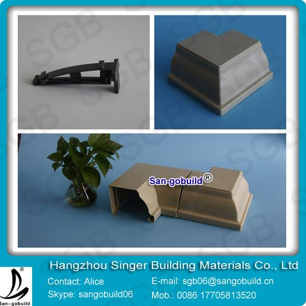 PVC rain gutter, low cost roof drainage system