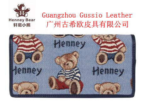 Trendy Domestic design ladies Henney Bear wallet purse