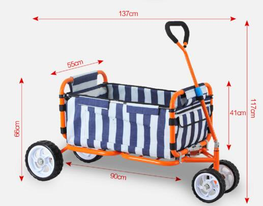 Garden beach cart folding camping chair hand trolley cart for home baby