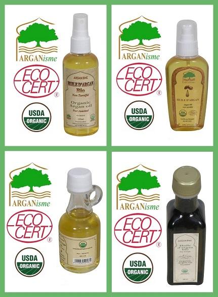 Deodorized argan oil