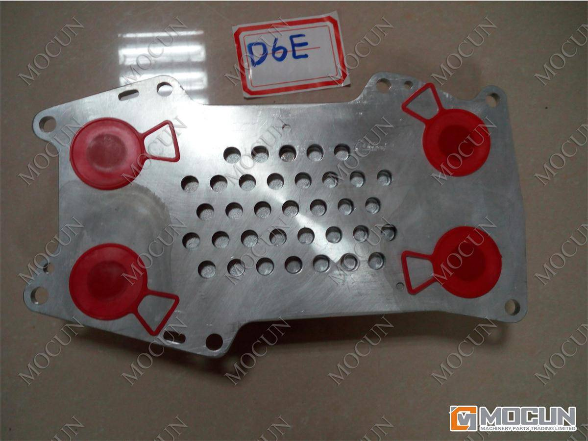 D6E oil cooler core for excavator engine parts
