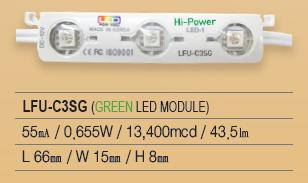 LED Module, 3P Series, LFU-C3SG(GREEN)