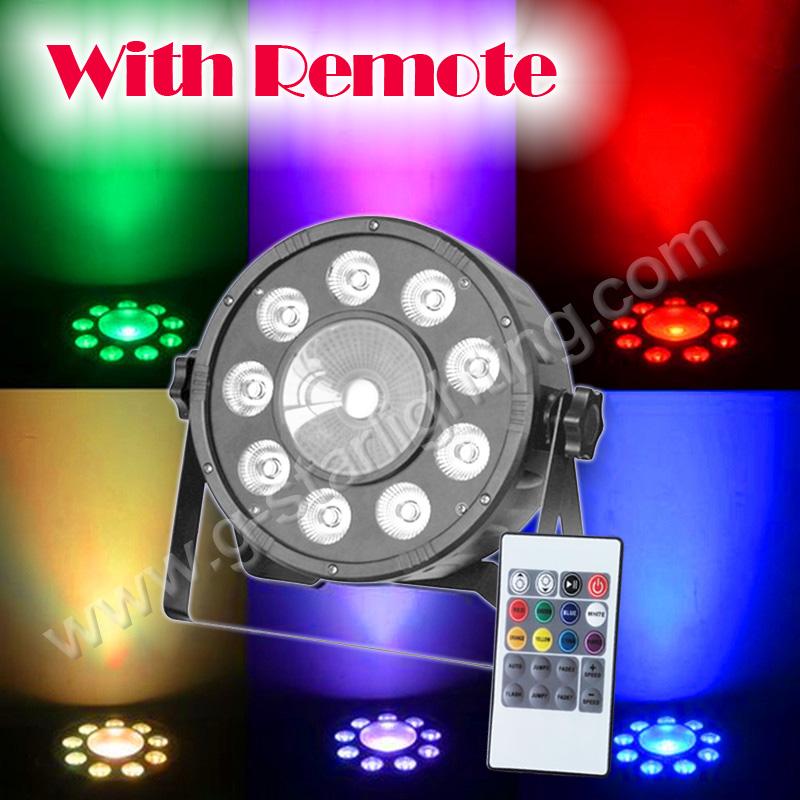 X10 W + 1X30 W Led Licht RGB 3IN1 LED Light/ LED REMOTE LIGHT/ STAGE LIGHTING