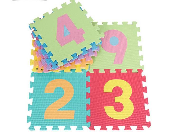 Baby play number soft foam floor mat