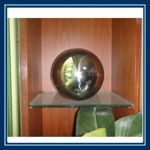 mirror stainless steel home decor sphere