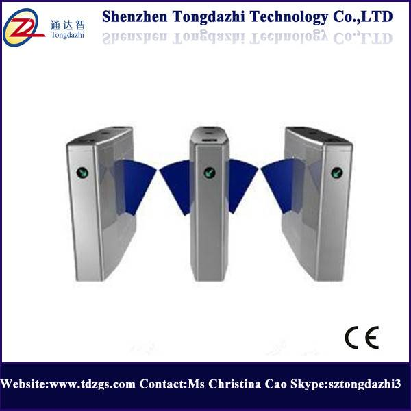 Security turnstile flap gate with fingerprint machine