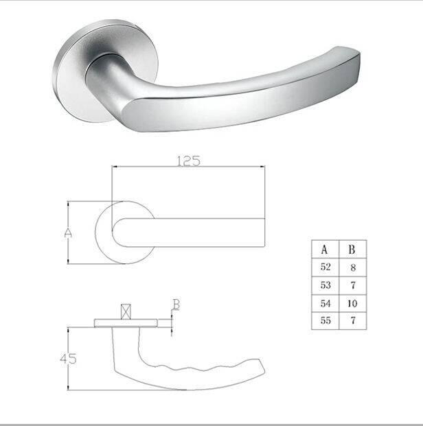 Solid aluminum level handles
