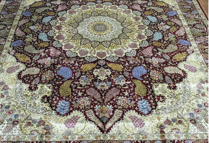 Chinese handmade Silk Persian Carpet Tabriz NY-YH-01