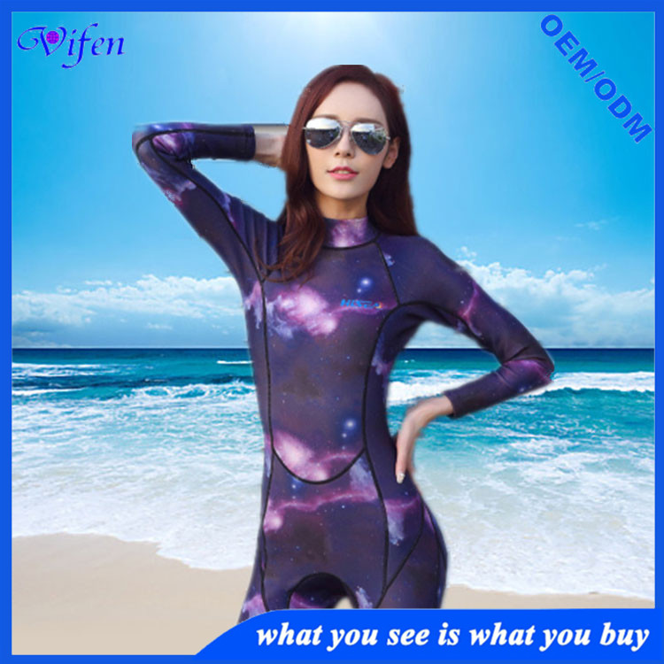 Star sky pattern women Wetsuits Full Body 3MM Diving Suit Snorkeling Swimmingsurfing wholesale