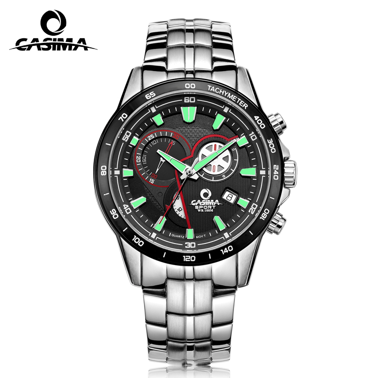 2017 Casima multi-function stainless steel quartz watch for men