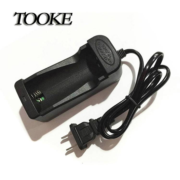 TOOKE 18650 26650 32650 Rechargeable Li-ion Battery Universal Travel One slot Charger with wire